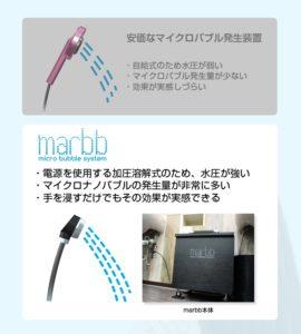 marbb(マーブ)と家庭用シャワーヘッドの違い