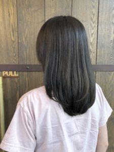 髪を明るくできない方必見!ダークな透け感カラー!
